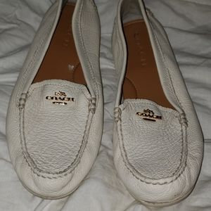 Coach loafers Mary lock up cream